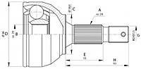 ШРУС наружный Fiat Scudo/Peugeot Expert 07- 2.0Hdi GSP 810098