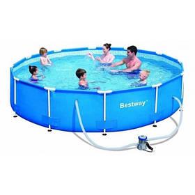 Каркасный бассейн Bestway 56416 Размер 366х76 с картриджем и фильтром