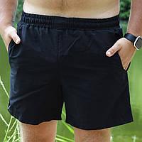 Плавательные шорты мужские летние стильные, цвет черный, фото 1