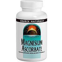 Витамин С (Vitamin C) аскорбат магния   порошок Source Naturals 1000 мг 226.8 гр