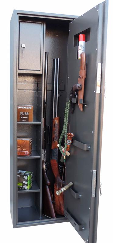 Сейф оружейный 1370*390*250мм / 45кг с патронным отделением
