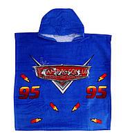Детское полотенце с капюшоном (пончо) Merzuka Cars-синий