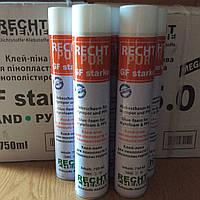 """Клей-пена  """"RECHT PUR GF starke"""",для систем утепления(750мл/860гр) ручная"""