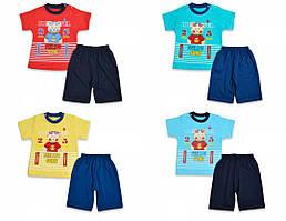 Детский летний костюм, для мальчиков 6-18 мес