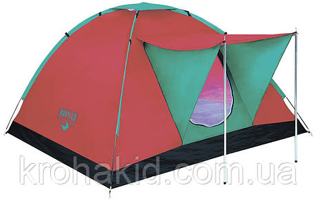 Палатка туристическая 68012 (210*210*120 см), 3-местная, антимоскитная сетка, навес, сумка, фото 2