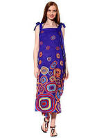 Красивый летний длинный женский сарафан-парео