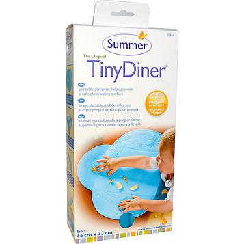 Summer Infant, Оригинальная обеденная подстилка под столовые приборы, синяя, 1 рулон