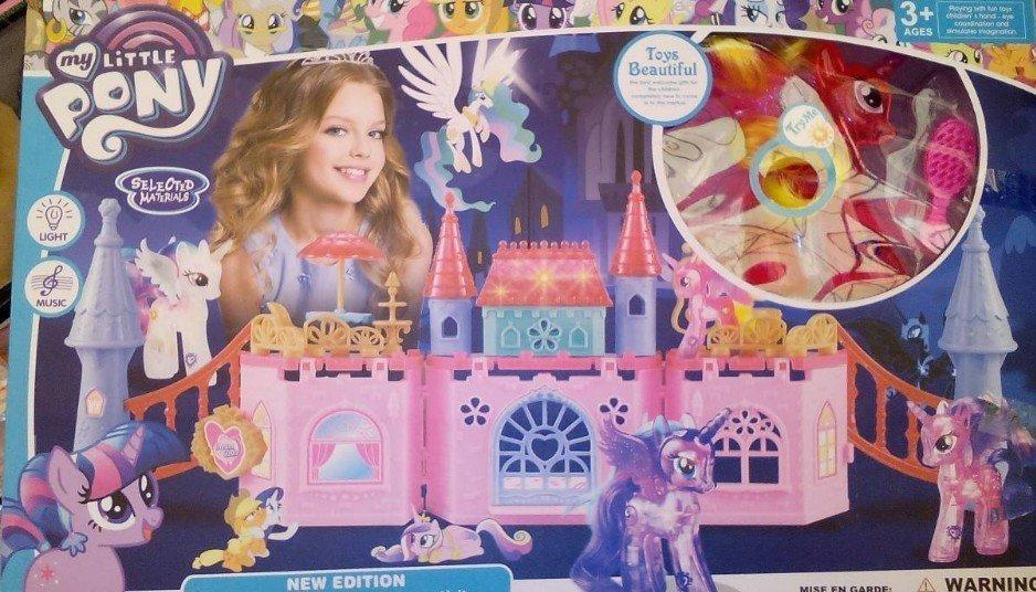 Игровой набор Замок Пони 1082 световые и звуковые эффекты