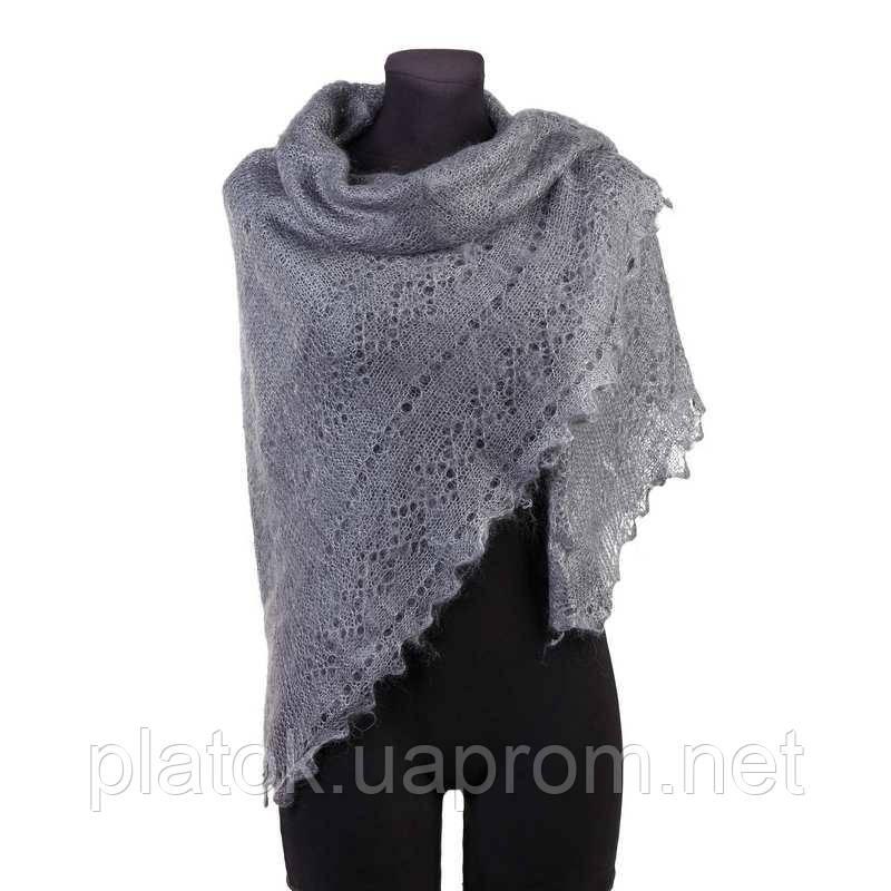 Платок Жучки  Ш-00124, серый, оренбургский платок