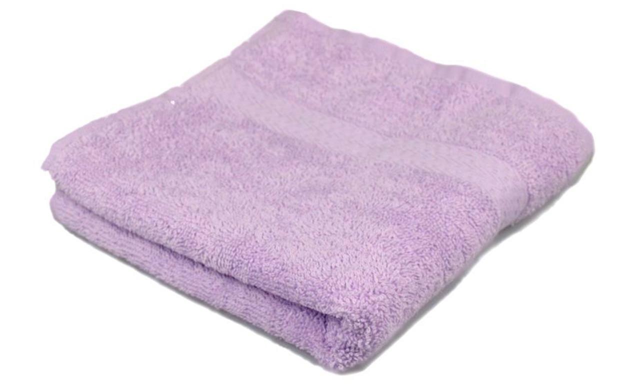 Полотенце махровое, бордюр, 50х90, цвет: лиловый