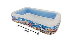 Семейный надувной бассейн Морской 305*183*56 см