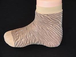 Капронові  носочки - зебра