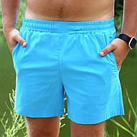 Плавательные шорты мужские летние стильные, цвет голубой