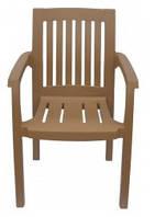 Кресло пластиковое Базилик бежевое