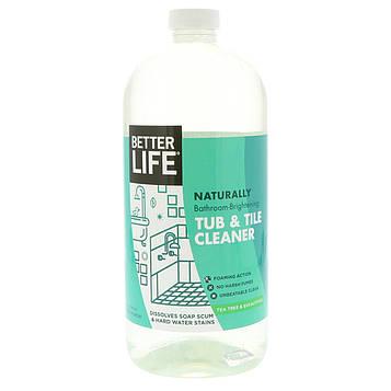 Better Life, Натуральное средство для чистки плитки и ванны с осветлителем, чайное дерево и эвкалипт, 32 жидких унции (946 мл)