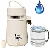 Дистиллятор воды Aqua Drink со стеклянной колбой
