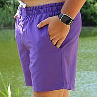 Плавальні шорти чоловічі стильні літні, колір фіолетовий, фото 1