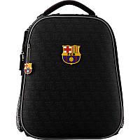 Рюкзак школьный каркасный ортопедический Kite Education Fc Barcelona Черный (BC19-531M)