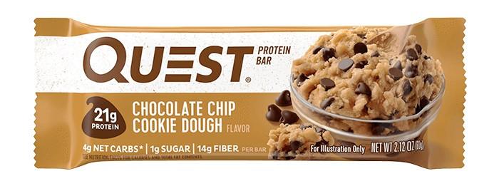 Батончик Quest Nutrition - Protein Bars (60 грамм) шоколадные чипсы с печеньем