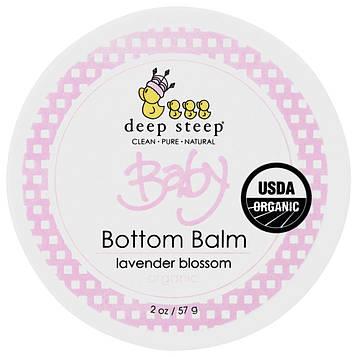 Deep Steep, Органический продукт, бальзам для детской попки, цветущая лаванда, 2 унции (57 г)