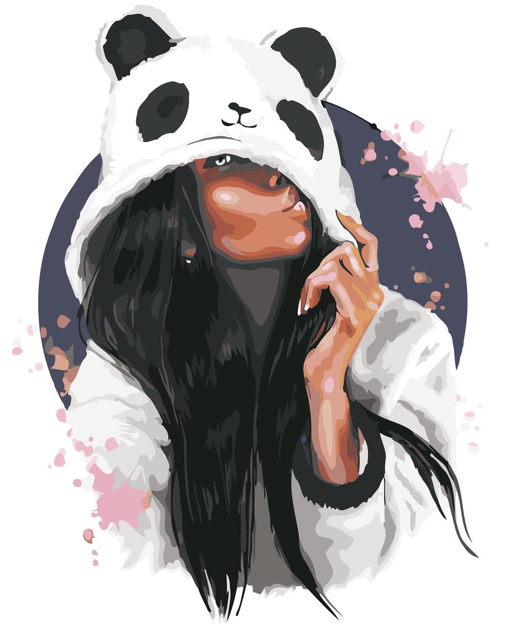 Раскраски по номерам В стиле панды ArtStory AS0579 40 х 50 см