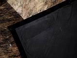 Черно красный кожаный ковер печворк, аргентинские ковры, фото 2