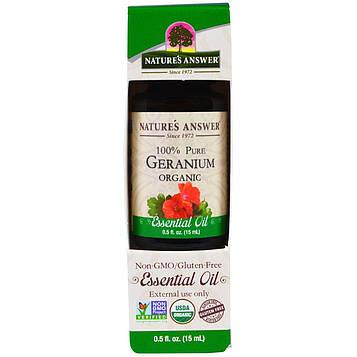 Natures Answer, Органическое эфирное масло герани, 0,5 жид.унции (15 мл)
