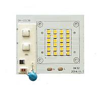 Светодиодная LED матрица 20Ватт SMD2835 24Led 220V ( встроенный драйвер ) 64*57mm