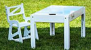 Детский растущий стульчик Noofik для световых столов (МДФ, белый), фото 3