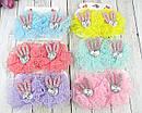 Детские заколки для волос Бантики с ушками в стразах 12 пар/уп, фото 2
