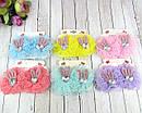 Детские заколки для волос Бантики с ушками в стразах 12 пар/уп, фото 4