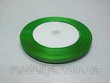 Стрічка атлас 0,6 см 23 метри салатово-зелений
