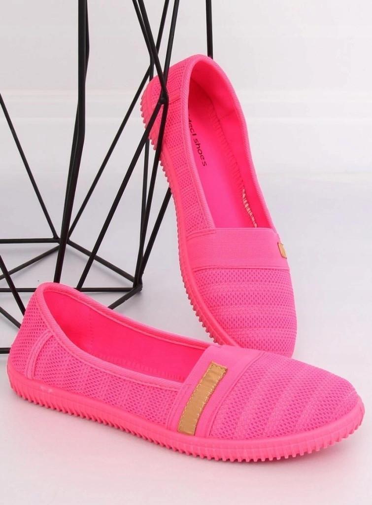 Силиконовые женские балетки розовые