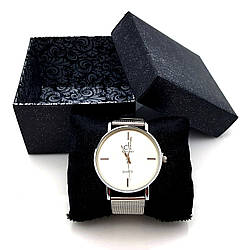Подарочная Коробка для часов, Черная с серебристым узором