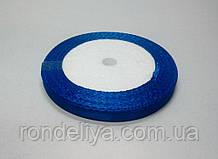 Стрічка атлас 0,6 см 23 метри синя