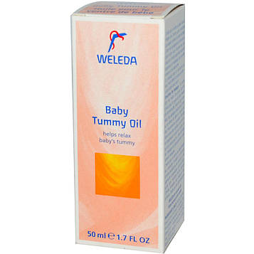 Weleda, Масло Baby Tummy, 1,7 жидких унций (50 мл)