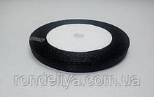 Стрічка атлас 0,6 см 23 метри чорна