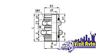 Мод. D2512 и D2502 фитинг-переходник