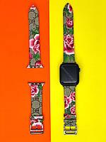 Ремешок GUCCI для Apple Watch эко-кожа (реплика)