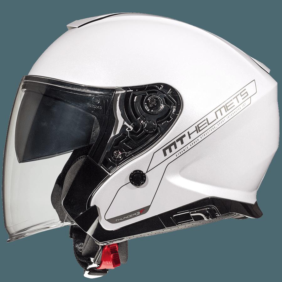 Мотошолом MT Thunder 3 SV Jet Solid Gloss White