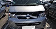 Дефлектор капота Фольксваген Транспортер Т5 (мухобойка на капот Volkswagen Transporter T5)