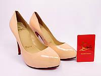 Туфли женские  Christian Louboutin, женская летняя обувь, туфли лаковые, Кристиан Лубутен