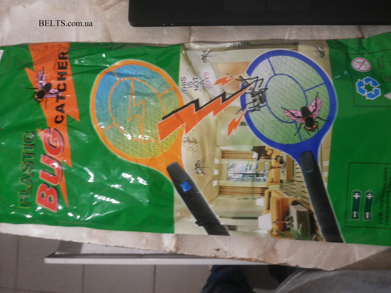 Мухобойка Ракетка на батарейках электрическая fly-swat