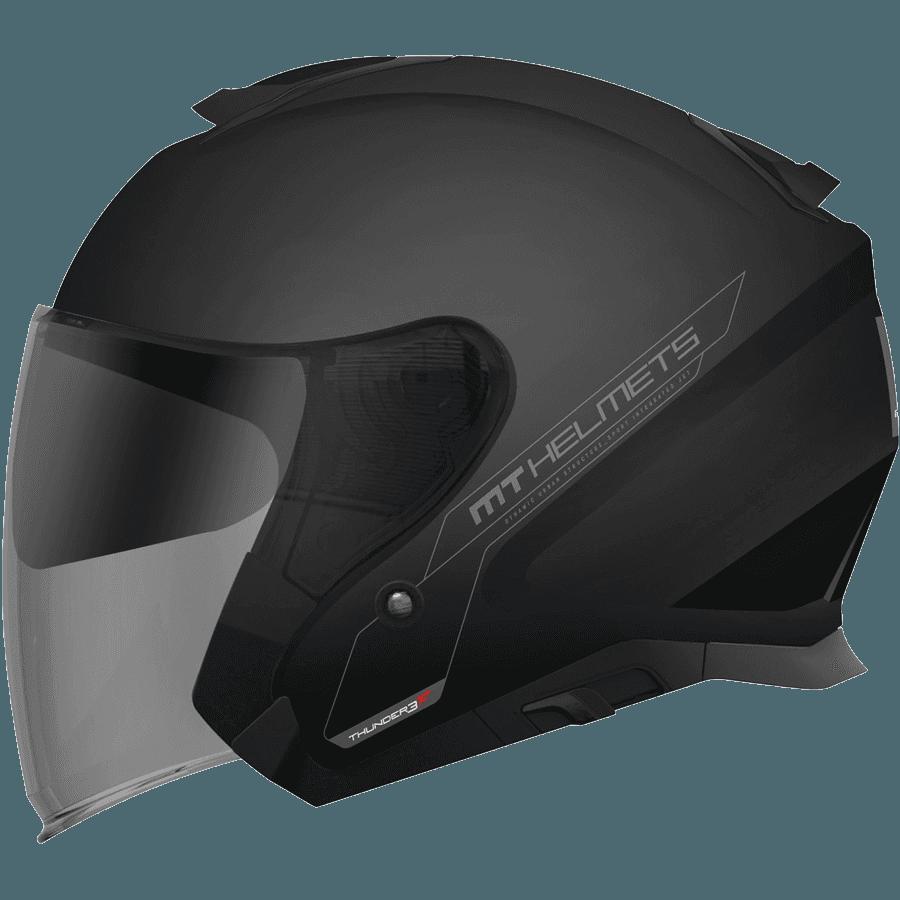 Мотошлем MT Thunder 3 SV Jet Solid Gloss Black