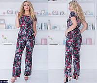 f98efe6cd01cb Женский красивый летний брючный костюм 2-ка,брюки с карманами+кофта с  коротким