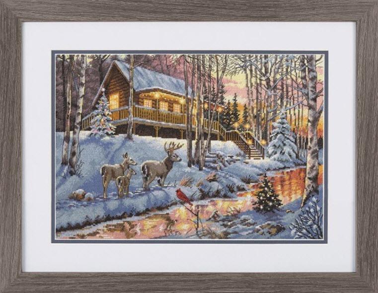 Набор для вышивки крестом Dimensions 08976 «Зимний домик»