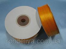 Лента атлас 0,3 см 90 м оранжевый подсолнух