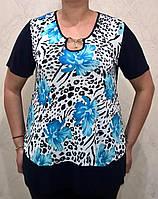 Стильная женская футболка в модный принт, фото 1