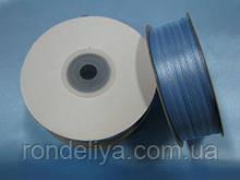 Стрічка атлас 0,3 см 90 м блакитна
