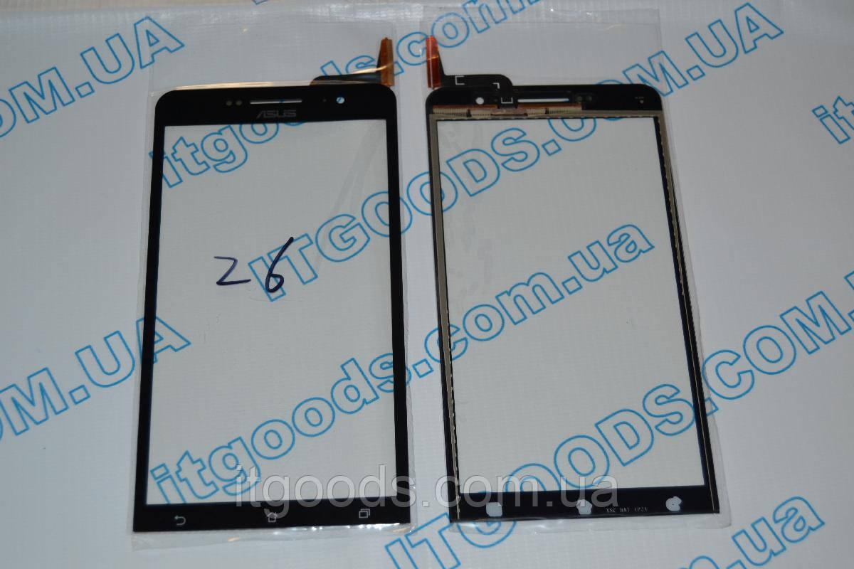 Оригинальный тачскрин / сенсор (сенсорное стекло) для Asus Zenfone 6 A600CG A601CG (черный цвет) + СКОТЧ
